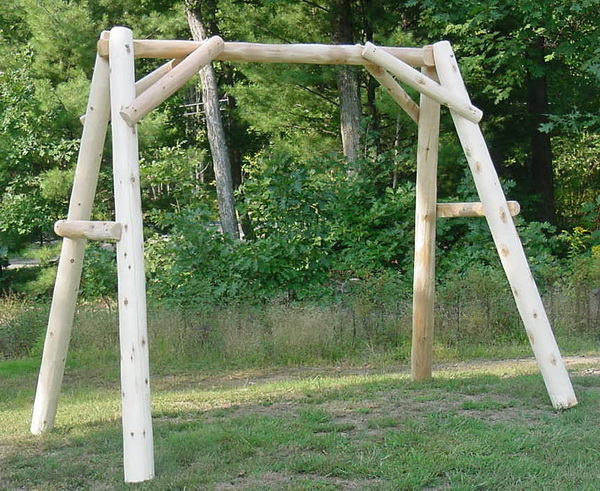5′ Cedar Log Porch Swing Frame (Frame Only)