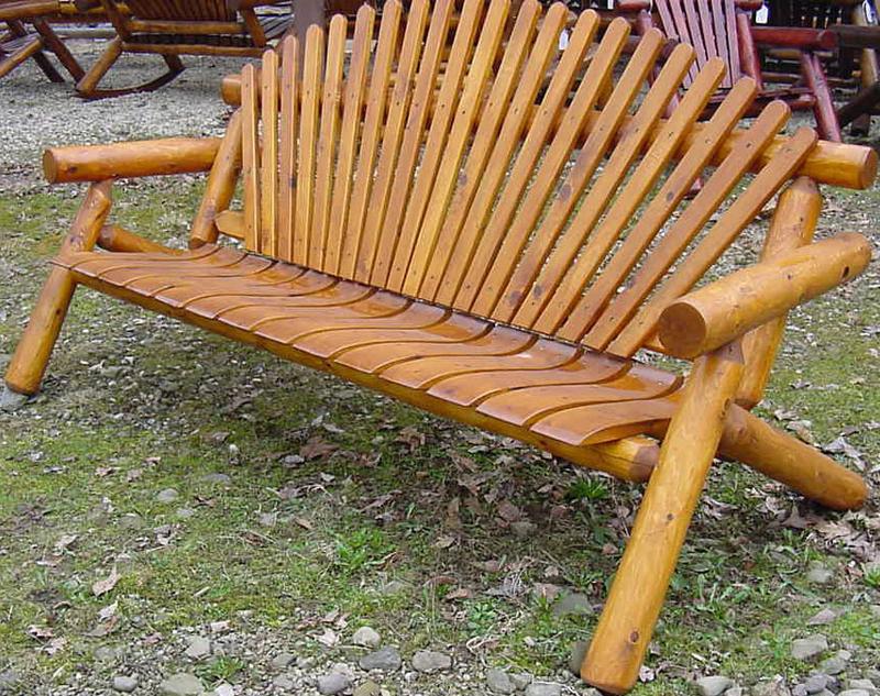 6′ Cedar Log Bench