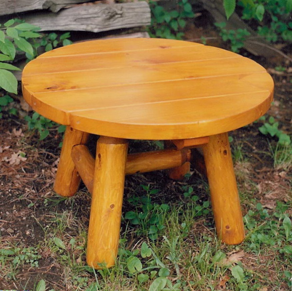 28″ Round Log Table