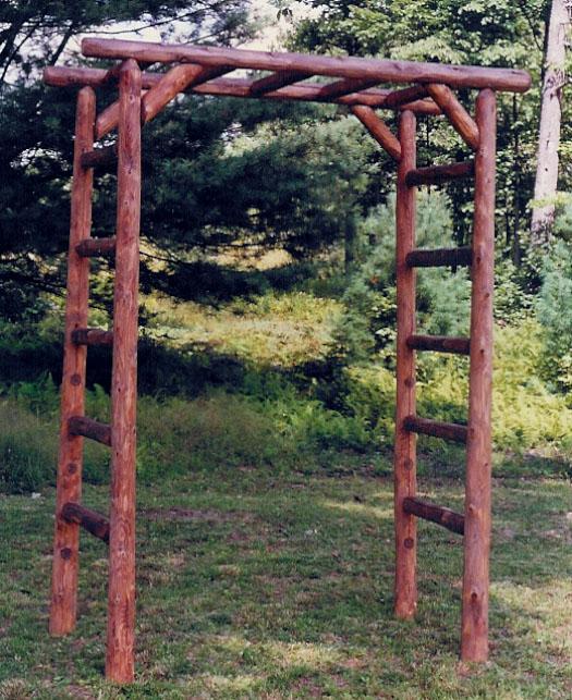 Cedar Log Square Arbor