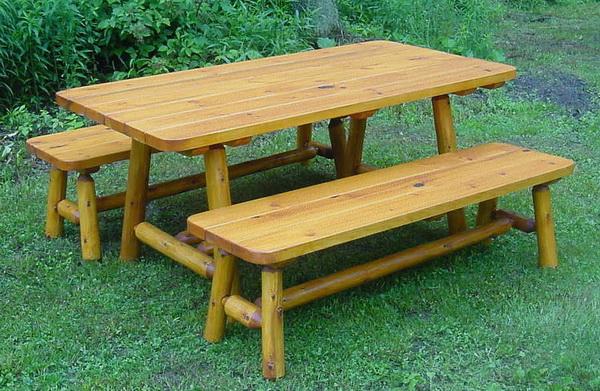 Picnic Cabin Tables Briar Hill, Cabin Outdoor Furniture