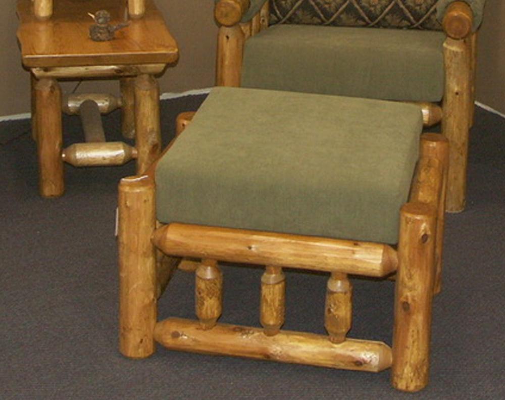 Cedar Log Ottoman