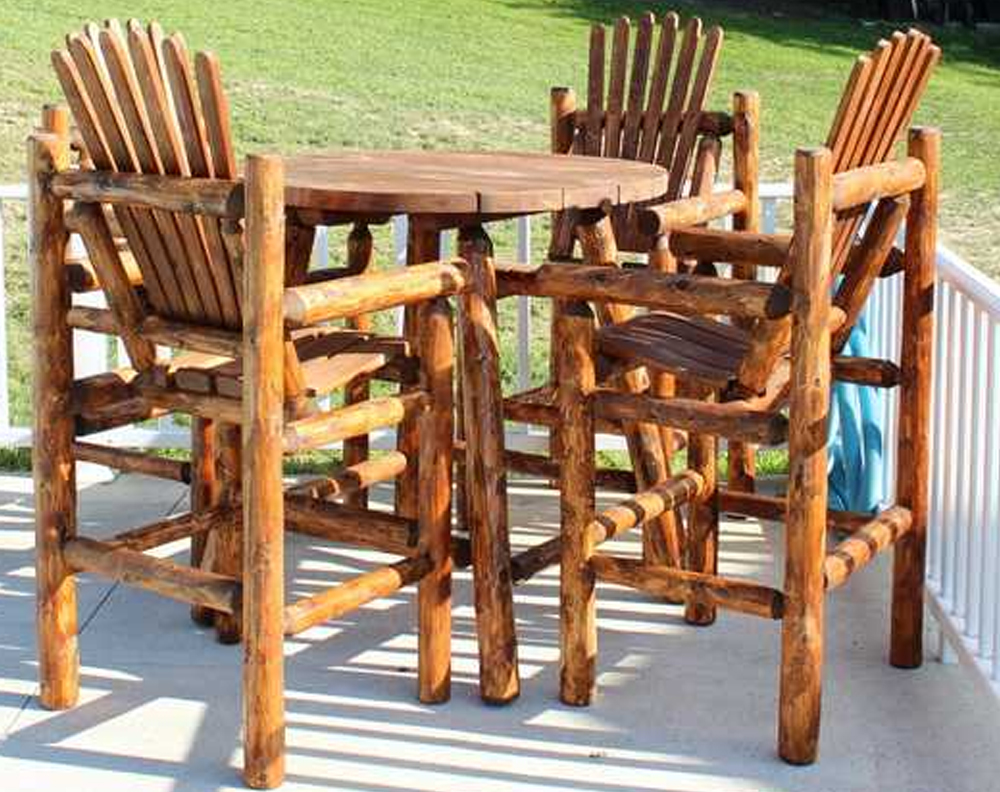 Pub Table and Captains Chairs Set