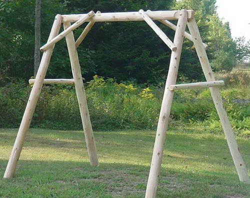 4′ Cedar Log Porch Swing Frame (Frame Only)