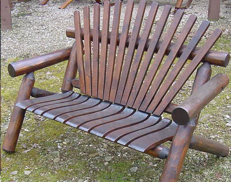 4′ Dark Oak Love Seat