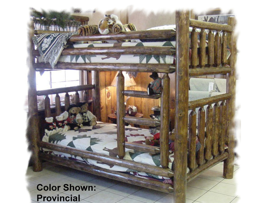 Twin Over Twin Cedar Log Bunk Bed