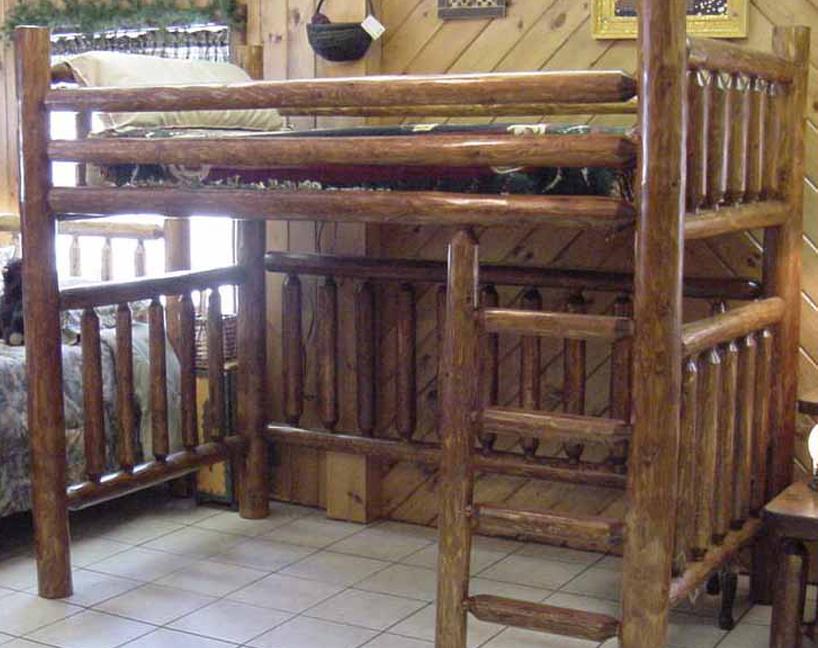 Twin Bed Cedar Log Loft