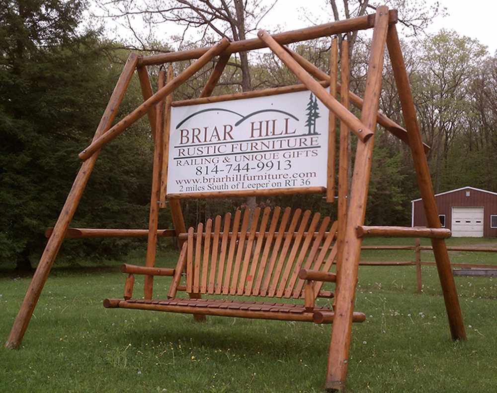 Big Cedar Log A-Frame Swing