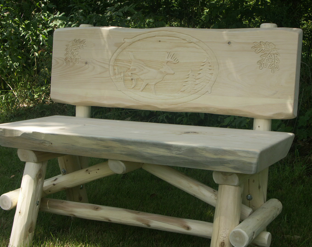 Hand Carved Bench