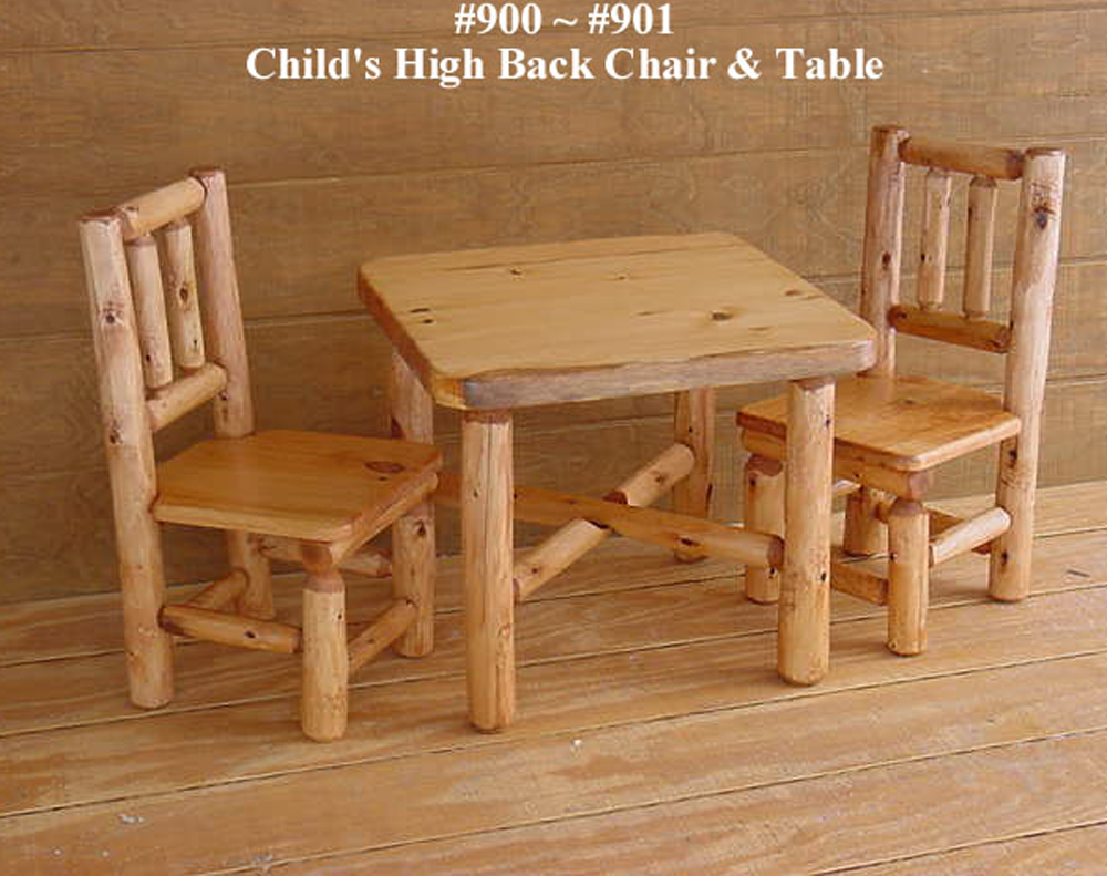 Child's Table & Highback Chairs
