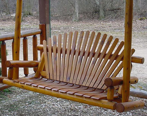 5′ Natural Oak Porch Swing
