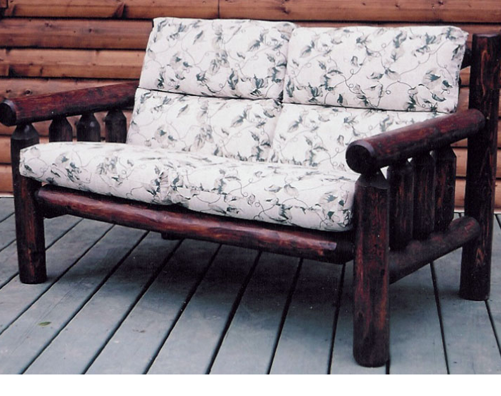 Patio Log Loveseat